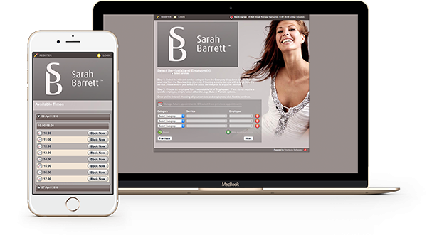 book your Sarah Barrett appointment on mobile or desktop