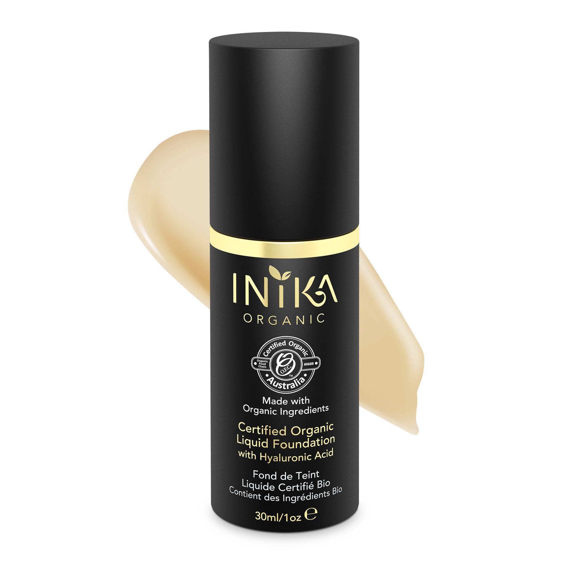 INIKA Certified Organic Liquid Foundation – Beige